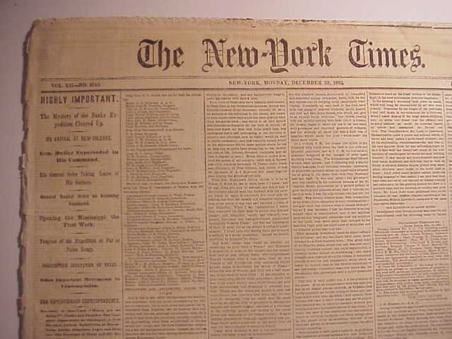 1862 NY Times Civil War