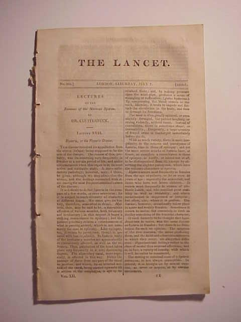 1826-7 The Lancet London Medical