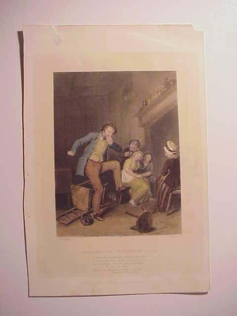 19th C Handcolored Engraving Address to a Tooth Ache