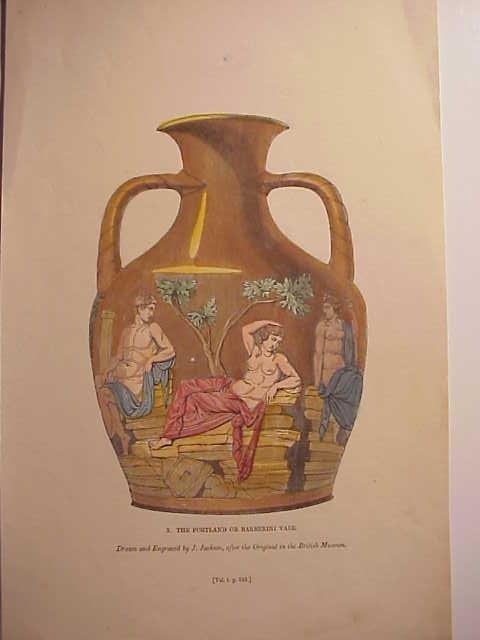 1843 Engraving The Portland or Barberini Vase