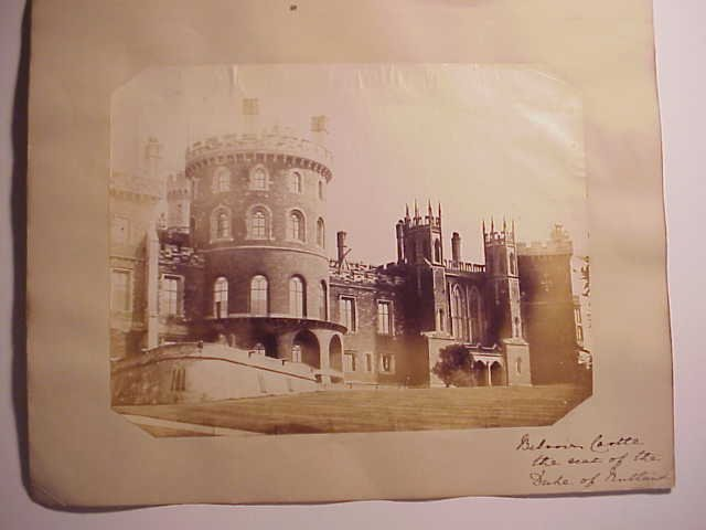 Albumen Photograph Belvoir Castle
