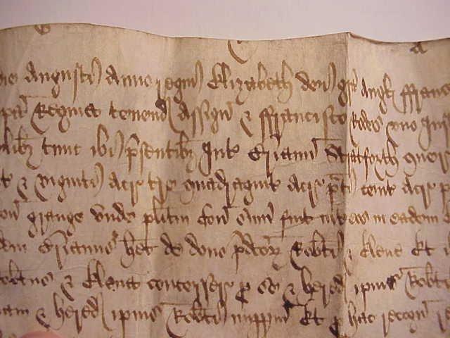 1588 Elizabethan Vellum Manuscript