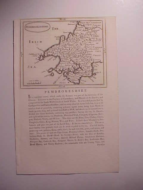 1787 Map of Pembrokeshire