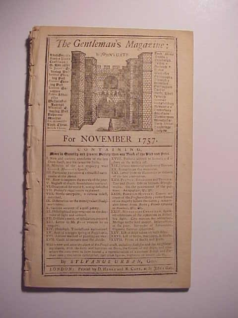1757 Gentleman's Magazine w/ Plan Coast of France