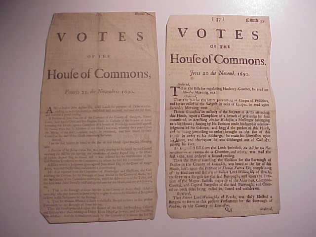 1690 Votes of House of Commons (2)