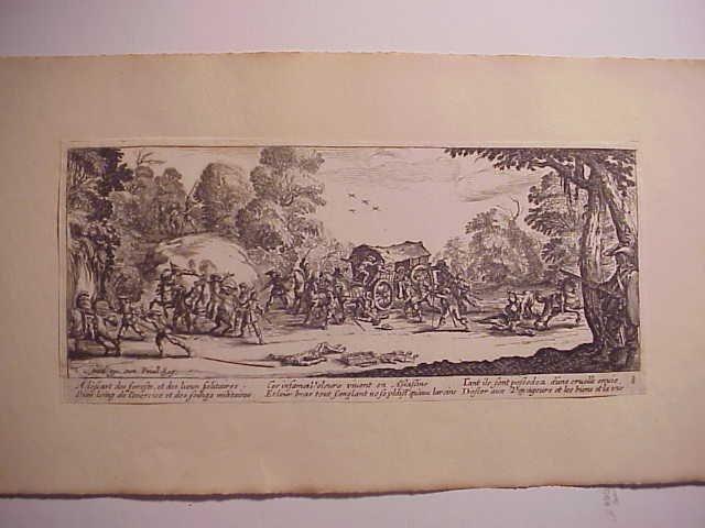 1730 Callot Miseries of War Engraving