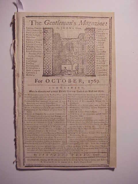 1769 Gentleman's Magazine American Interest