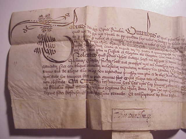 1600 Elizabethan Vellum License Signed by Bishop Durham