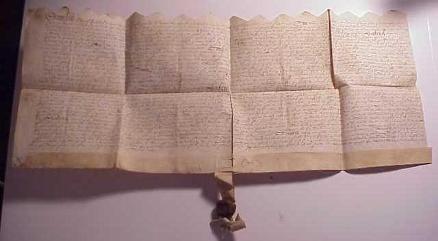 1577 Elizabethan Vellum Deed Red Wax Seal