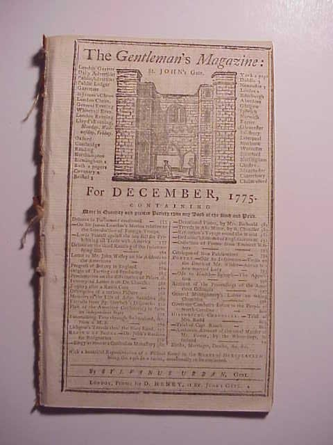 1775 Gentleman's Magazine Revolutionary War