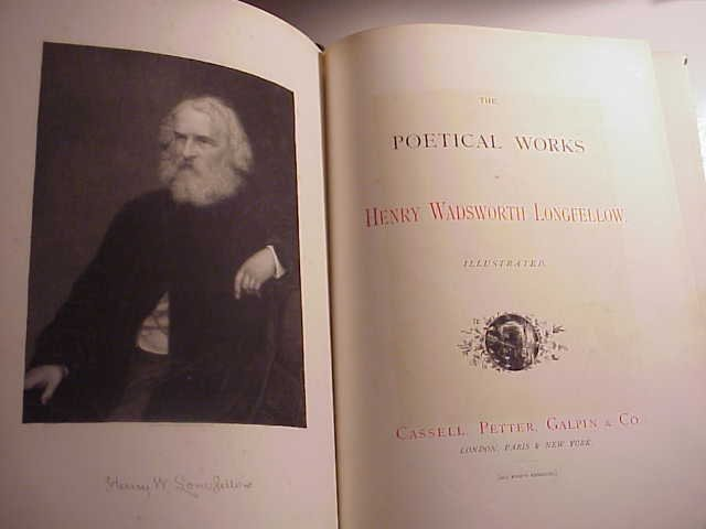 1885 Three Volume Works of Longfellow