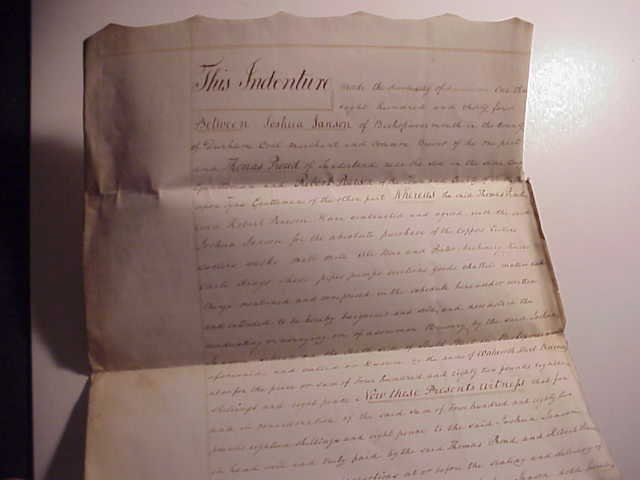 1834 Manuscript Bill of Sale for a Brewery Durham