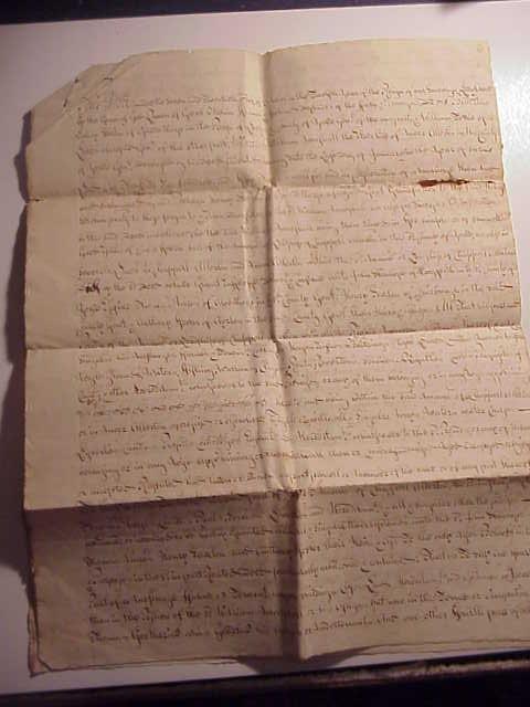 1713 Manuscript Copy of Conveyance of Lordship