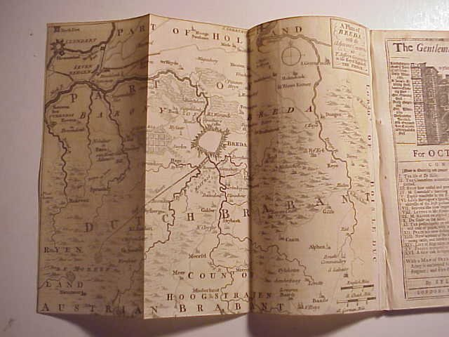 1747 Gentleman's Magazine w/ Plan of Breda