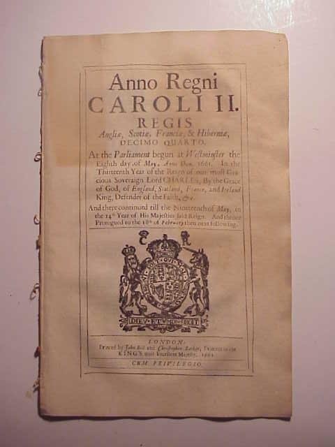 1662 English Act Exporting Clay Pipe Wool
