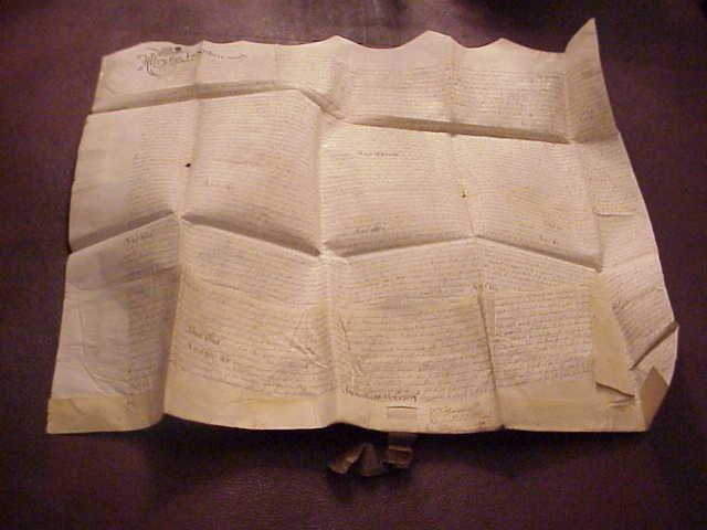 1602 Elizabethan Vellum Deed Forfeited Property Treason