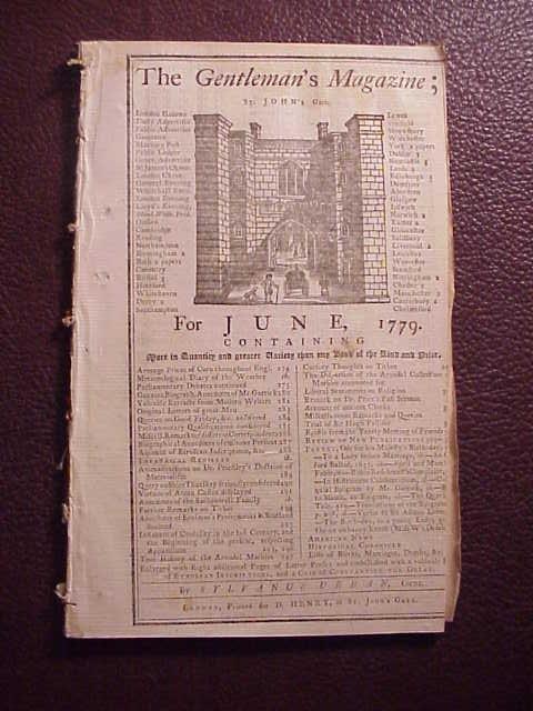 1779 GENTLEMAN'S MAGAZINE Revolutionary War