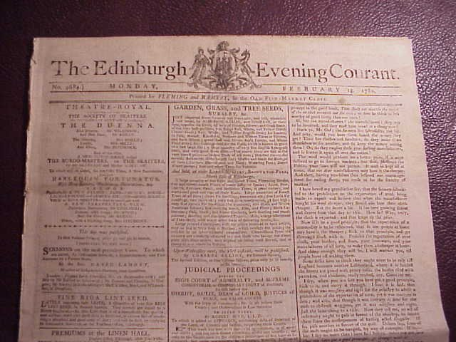 1780 NEWSPAPER BENJAMIN FRANKLIN ARTICLES