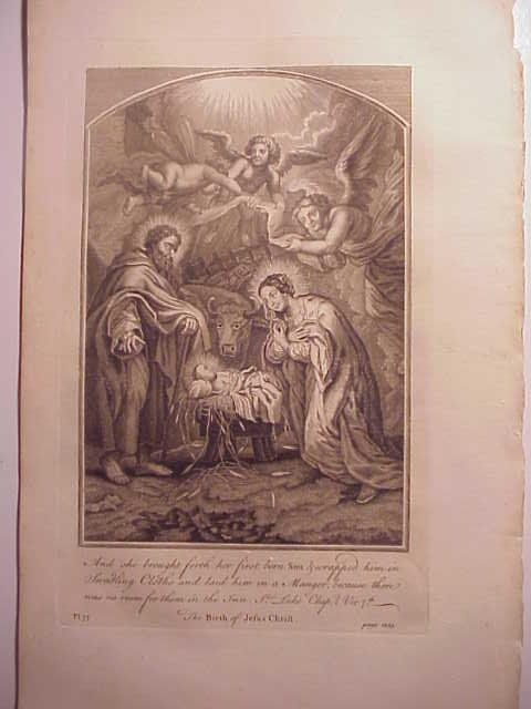 c1760 Engraving Birth of Jesus Christ