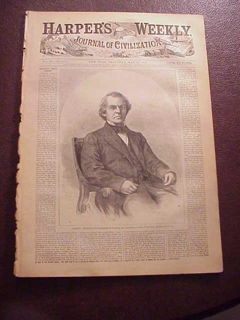 1865 HARPER'S WEEKLY Lincoln Funeral Issue