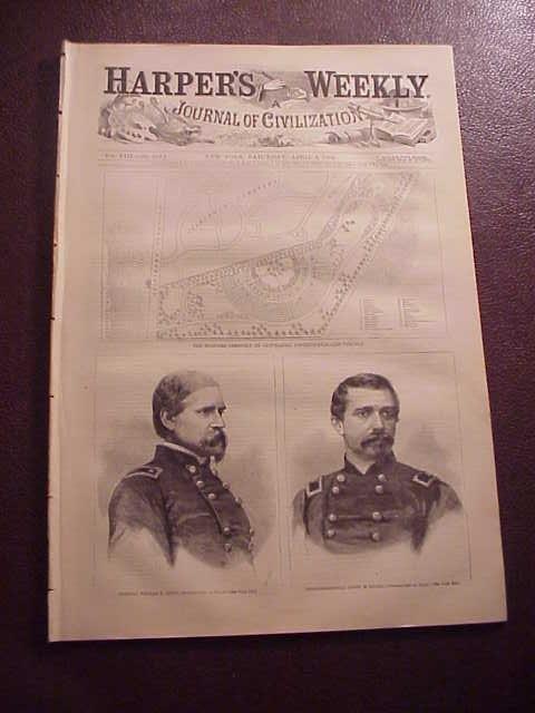 1864 HARPER'S WEEKLY Civil War Farragut