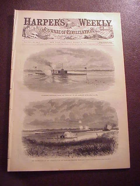 1863 HARPER'S WEEKLY Civil War Graphics Maps