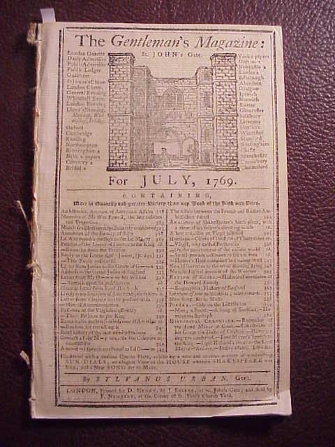 1769 GENTLEMAN'S MAGAZINE American Grievances