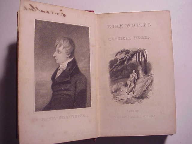 19th c KIRK WHITE'S POETICAL WORKS