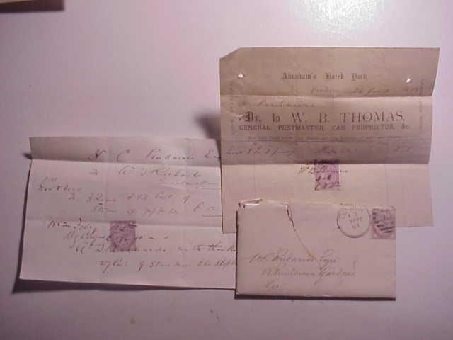 Three Manuscript 19th C Cornwall