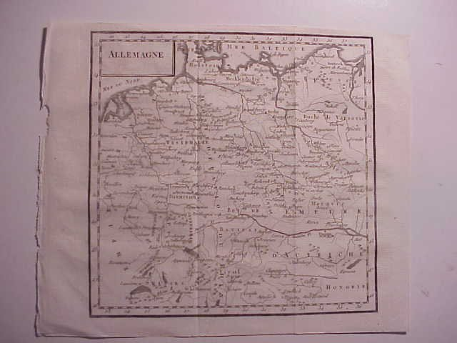18th C MAP OF ALLEMAGNE