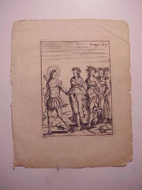 1687 ENGRAVING CARTARI MYTHOLOGY