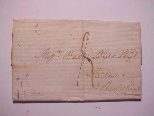 1806 Folded Letter Bishops Mark