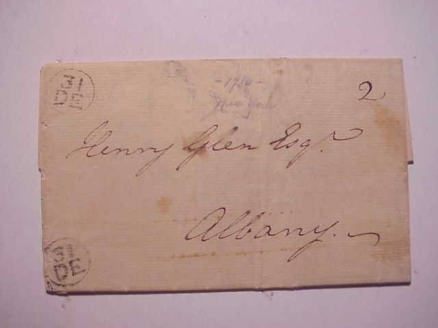 1789 Folded Letter NY Postal Markings