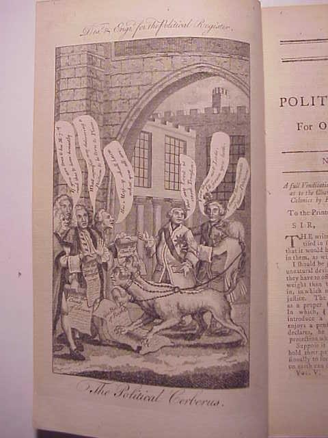 1769 POLITICAL REGISTER America Cartoon