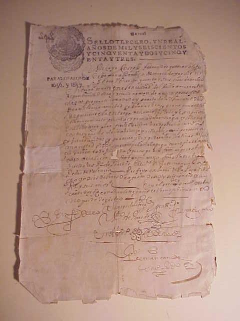 1657 Manuscript Colonial Peru