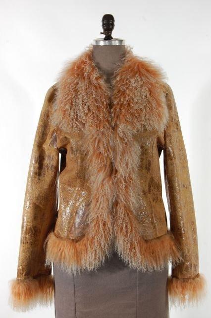 So Fun Silvy Butter Dyed Merino Shearling Jacket w/Long
