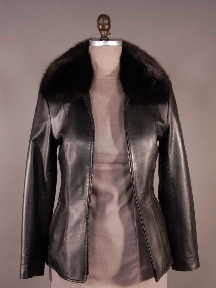 Gorgeous Petite Black Leather Jacket with Removable