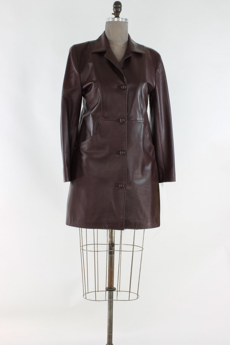 Beautifully Classic Dark Chocolate Brown Leather