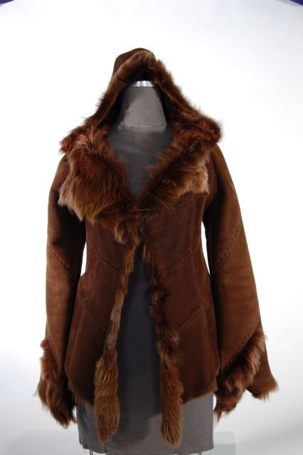 Sporty and Fun One of a Kind Look Hooded Brown