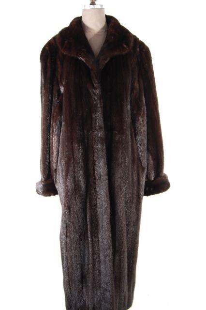Magnificent Mahogany Full Length Mink Coat. Size 50