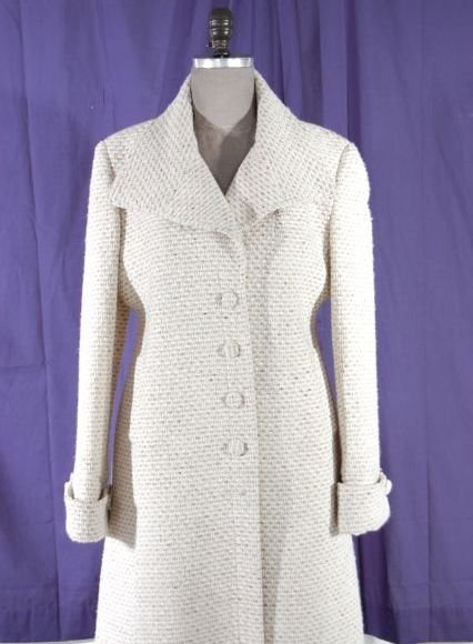 Classic Italian Dino Gaspari Designer Beige Tweed