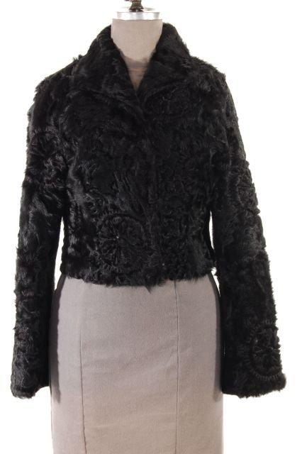 Wonderfully Stylish Italian Cropped Black Lamb Jacket