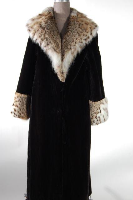 Stunning Black Sheared Beaver Full Length Coat with