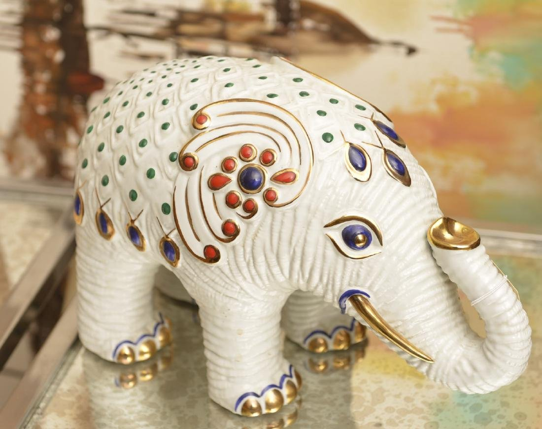 Buccellati glazed ceramic elephant