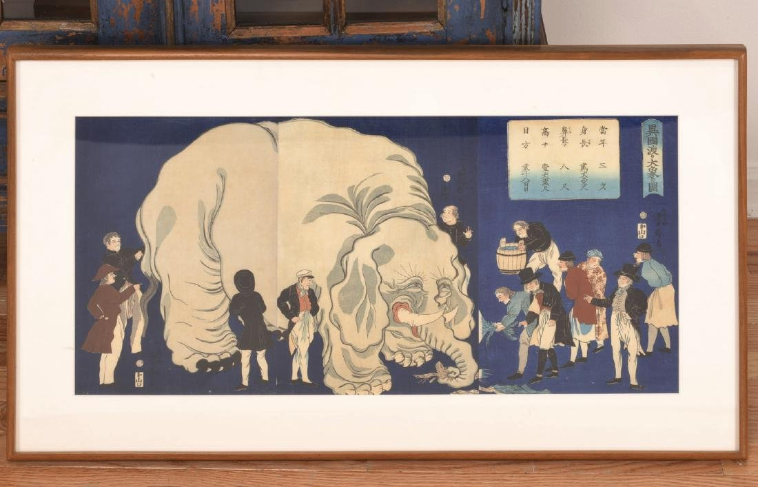 Manner of Yoshitoyo, large color woodblock print