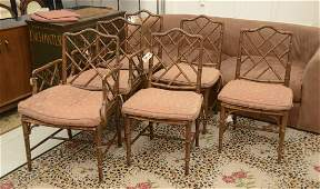 Set 6 Decorator faux Bamboo dining chairs