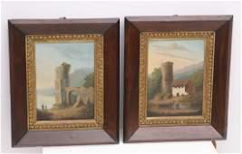 Continental School pair paintings