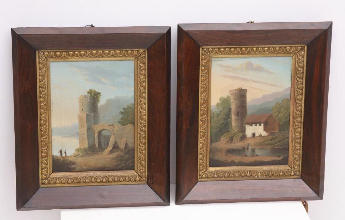 Continental School, pair paintings
