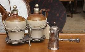 (2) silver plate serving pieces