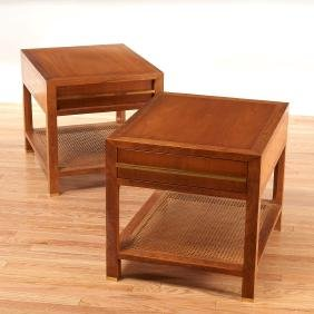 Pair Michael Taylor side tables